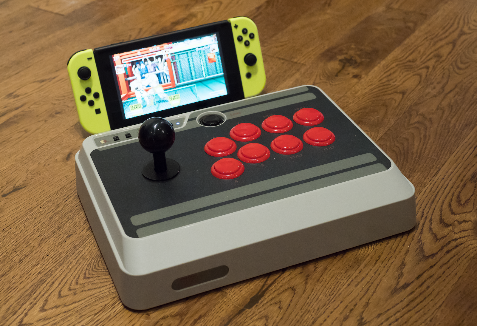 8bitdo s nes30 arcade stick is a big beautiful fighter. Black Bedroom Furniture Sets. Home Design Ideas