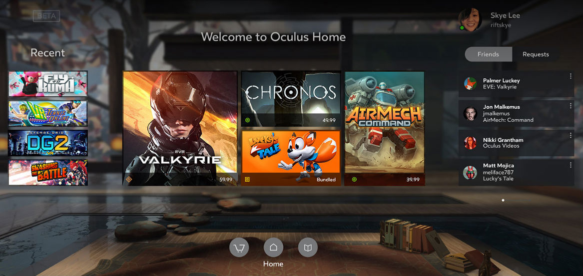 Oculus updates its Home platform to play nice with Steam purchases