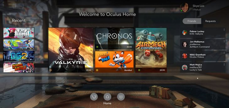 Oculus updates its Home platform to play nice with Steam