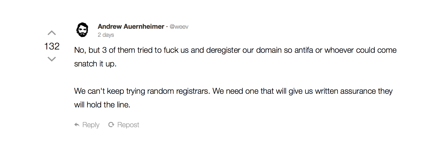 Daily Stormer has officially retreated to the dark web | TechCrunch