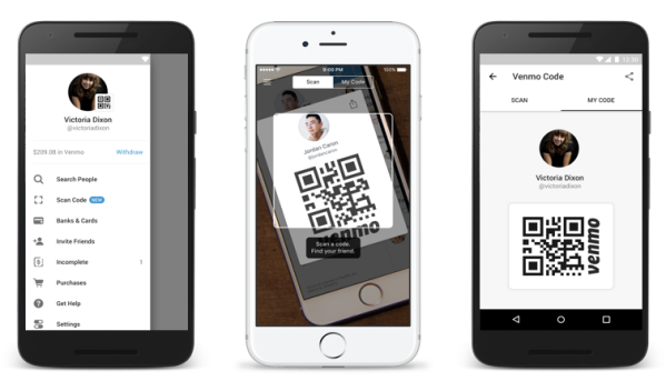 Venmo rolls out QR codes for user profiles in its mobile app