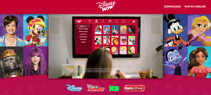 Disney releases DisneyNow, a new app that combines live TV