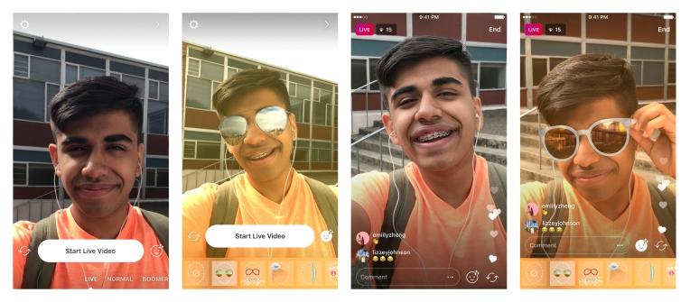 9c3583794a9 Instagram adds face filters to live video