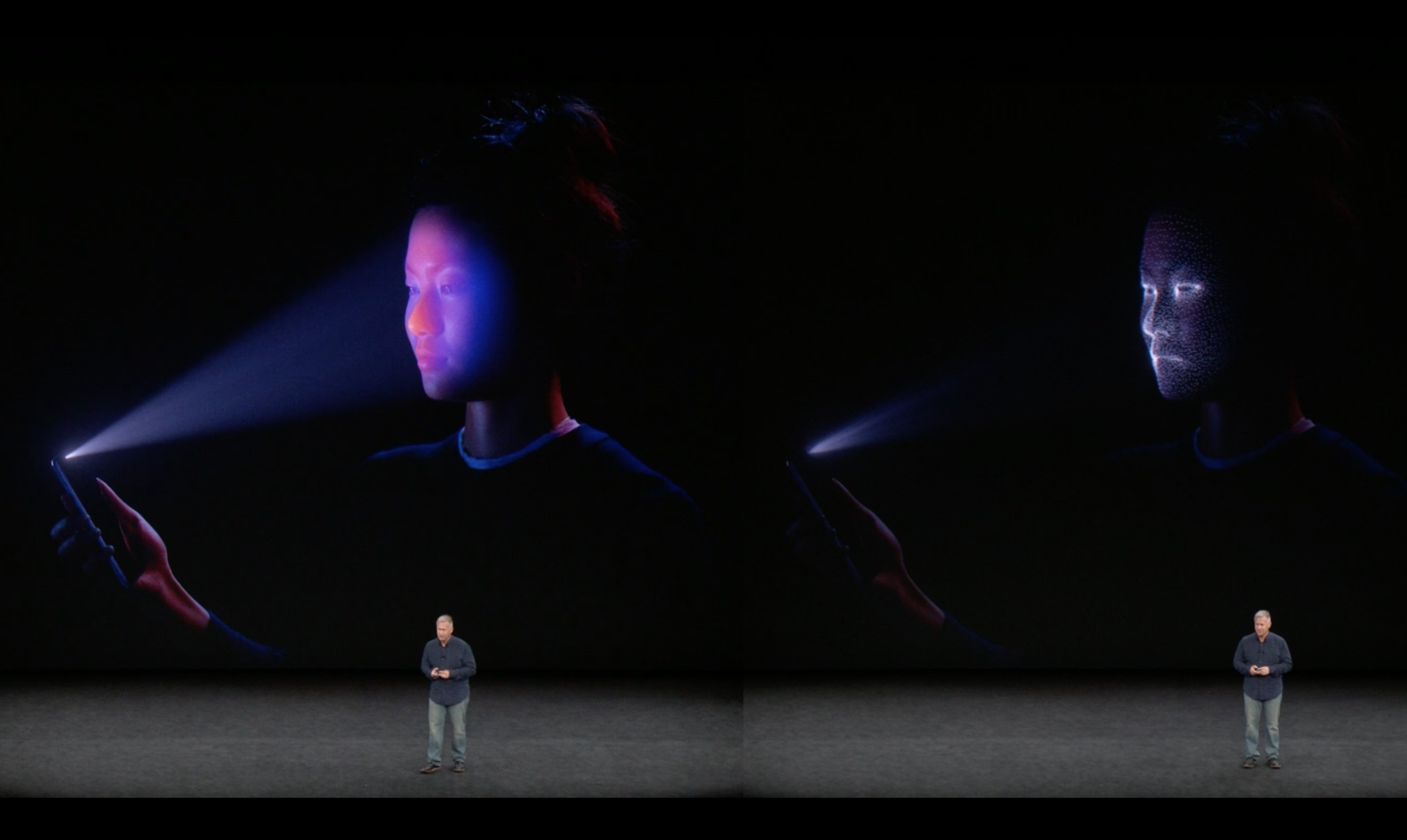 Iphone X Basically Has A Kinect On The Front To Enable Face Id Fluke8217s Five New Infrared Cameras An Ir Sensitive Camera Watches How Those Dots Are Distorted And Reflected Your Producing Detailed 3d Mesh