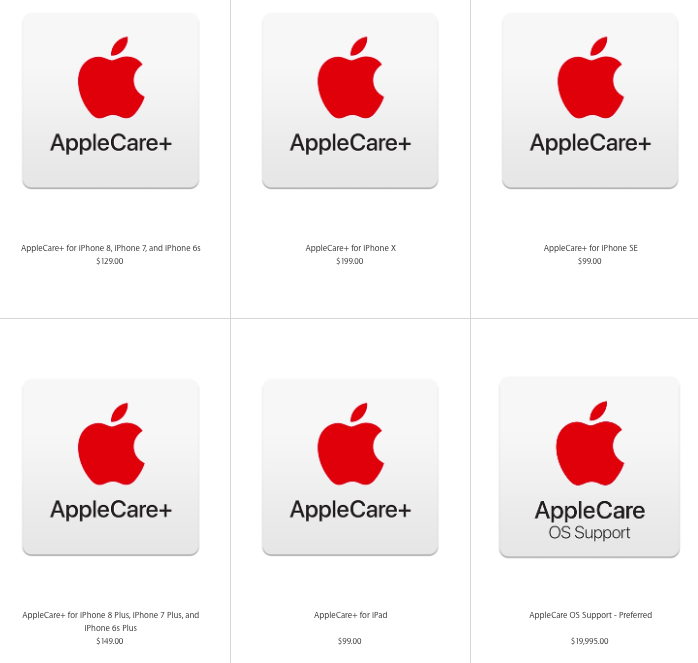 The Price Of Applecare Coverage For Iphone Plus Models Has Increased Techcrunch