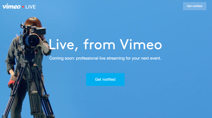 1281db35dc Alongside the news of the acquisition, Vimeo today launched Vimeo Live, its  first product to offer live streaming capabilities.