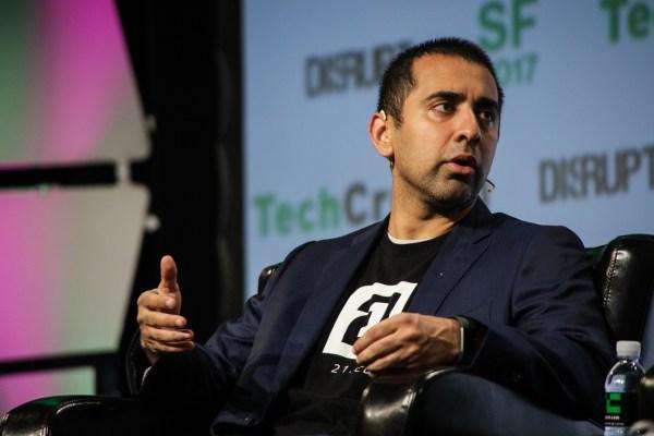 Coinbase CTO Balaji Srinivasan joins the speakers at TechCrunch's first blockchain event tcdisrupt sf17 balajisrinivasan 3672