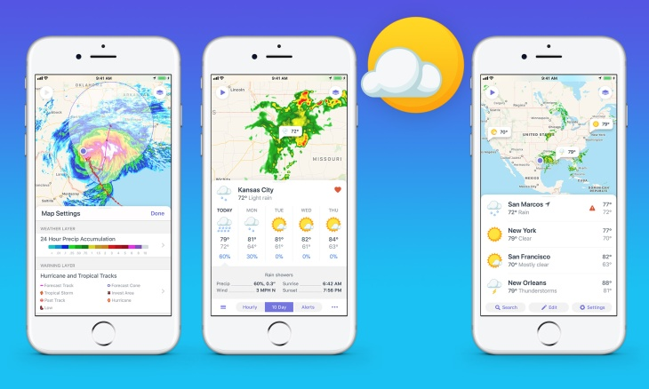 Weather Map Apps.Designed For Iphone 8 Weather Atlas Is A Great Replacement For Your