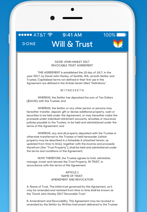 Tomorrow looks to make it easier to draw up plans for a will