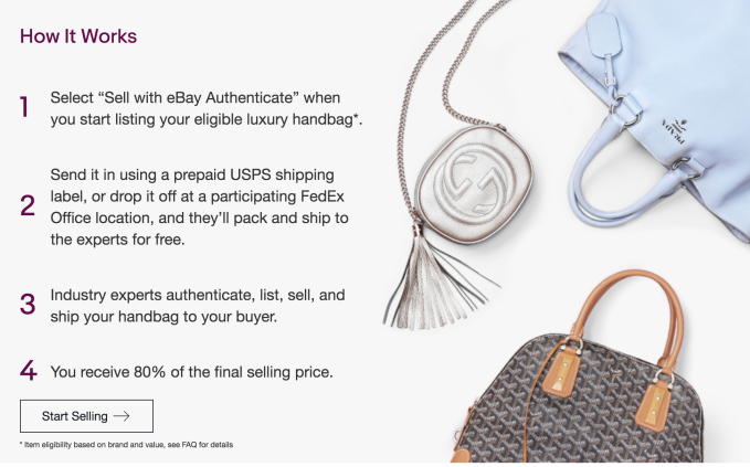 bbf2c914e66b To use the service, sellers visit the eBay Authenticate website to start  listing their item, then send in the handbag or wallet using the prepaid  shipping ...