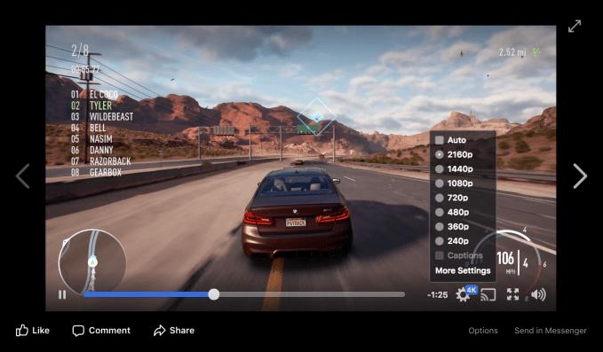 Facebook finally adapts to 4K video | TechCrunch
