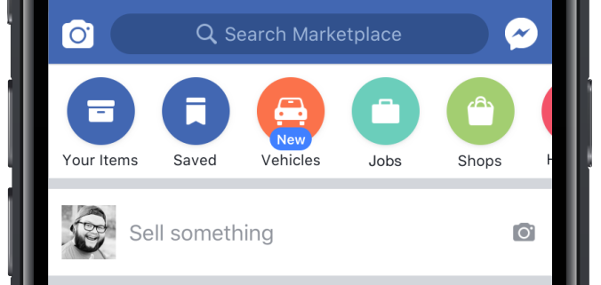 facebook launches marketplace for cars with dealers and blue book pricing techcrunch. Black Bedroom Furniture Sets. Home Design Ideas