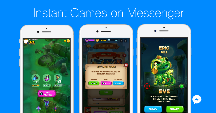 Facebook Messenger lets games monetize with purchases and