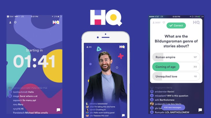 On Fridays, HQ Trivia will let you see your friends' answers