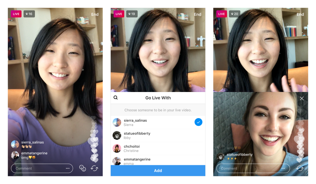 Instagram now lets people add guests to live video streams   TechCrunch