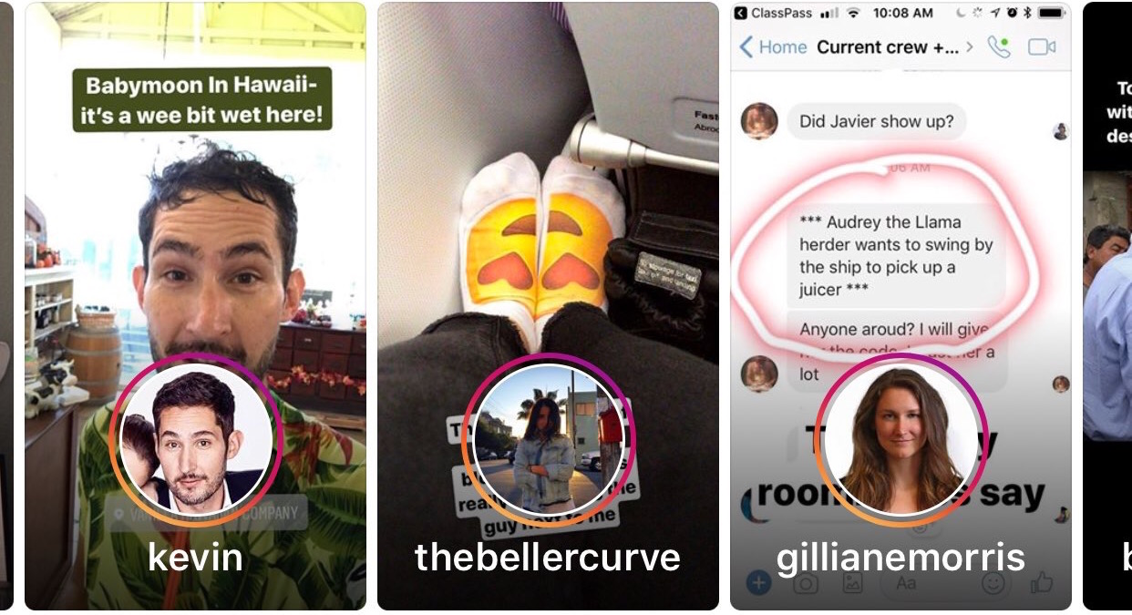 Instagram injects 2X bigger Stories previews mid-feed | TechCrunch