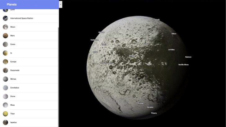 Google Maps now lets you explore your local planets and ... on freezing moon, satellite map of earth, detailed map of the moon, globes of the moon, old maps of the moon, colonization of the moon, earth orbiting the moon, satelite view from moon, google moon, terrain of the moon, temperature of the moon, atlas of the moon, labeled map of the moon, inner core of the moon, satellite engineer, gps of the moon, far side of the moon, satellite map of california, space maps of the moon, live feed of the moon,