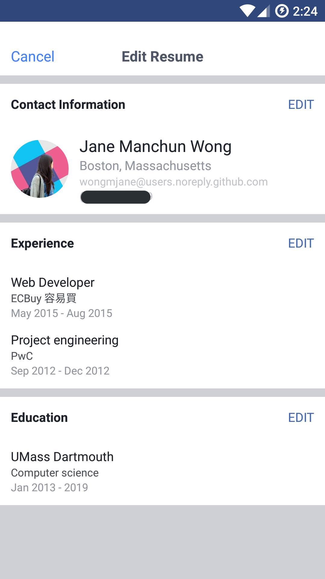 Resume on facebook example cover letter for a pa job