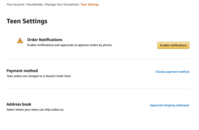 Amazon introduces a way for teens to independently shop its site