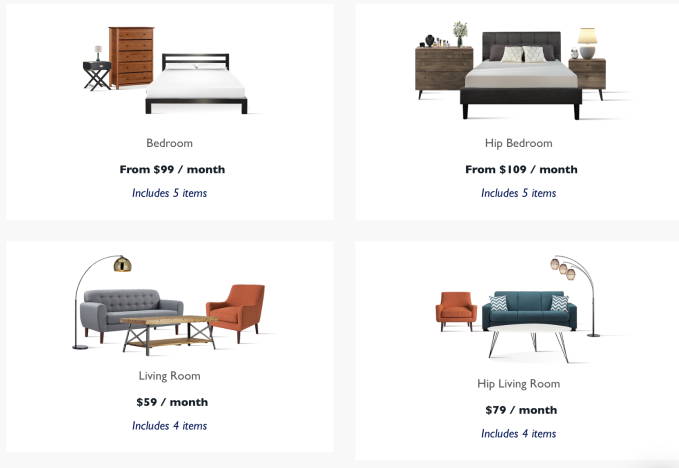 Bedroom Items. Right now the startup has a decent sized catalogue of furniture that comes  in bundles like bedroom set or la carte While all pieces are generic Feather raises 3 5M to rent millennials TechCrunch