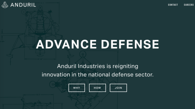 Palmer Luckey's new defense company Anduril looks interested in AR
