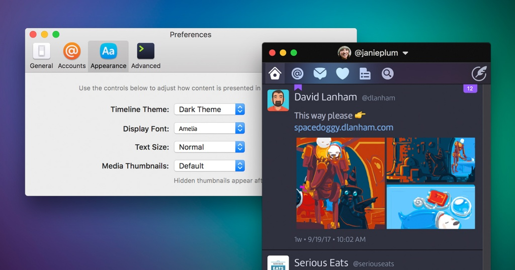 Twitterrific returns to Mac as a customizable Twitter client, but at