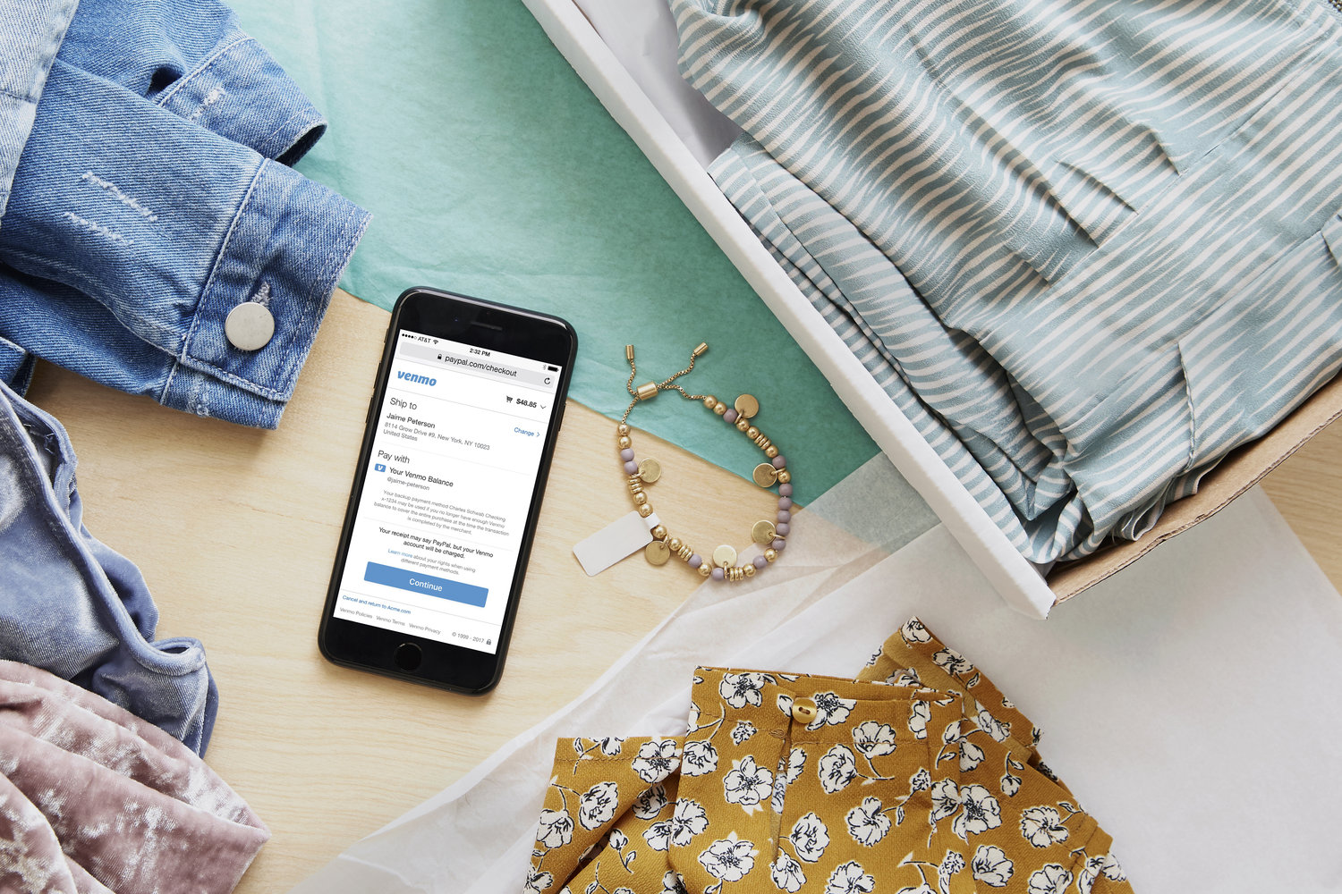 Venmo users can now shop online anywhere PayPal is accepted in the