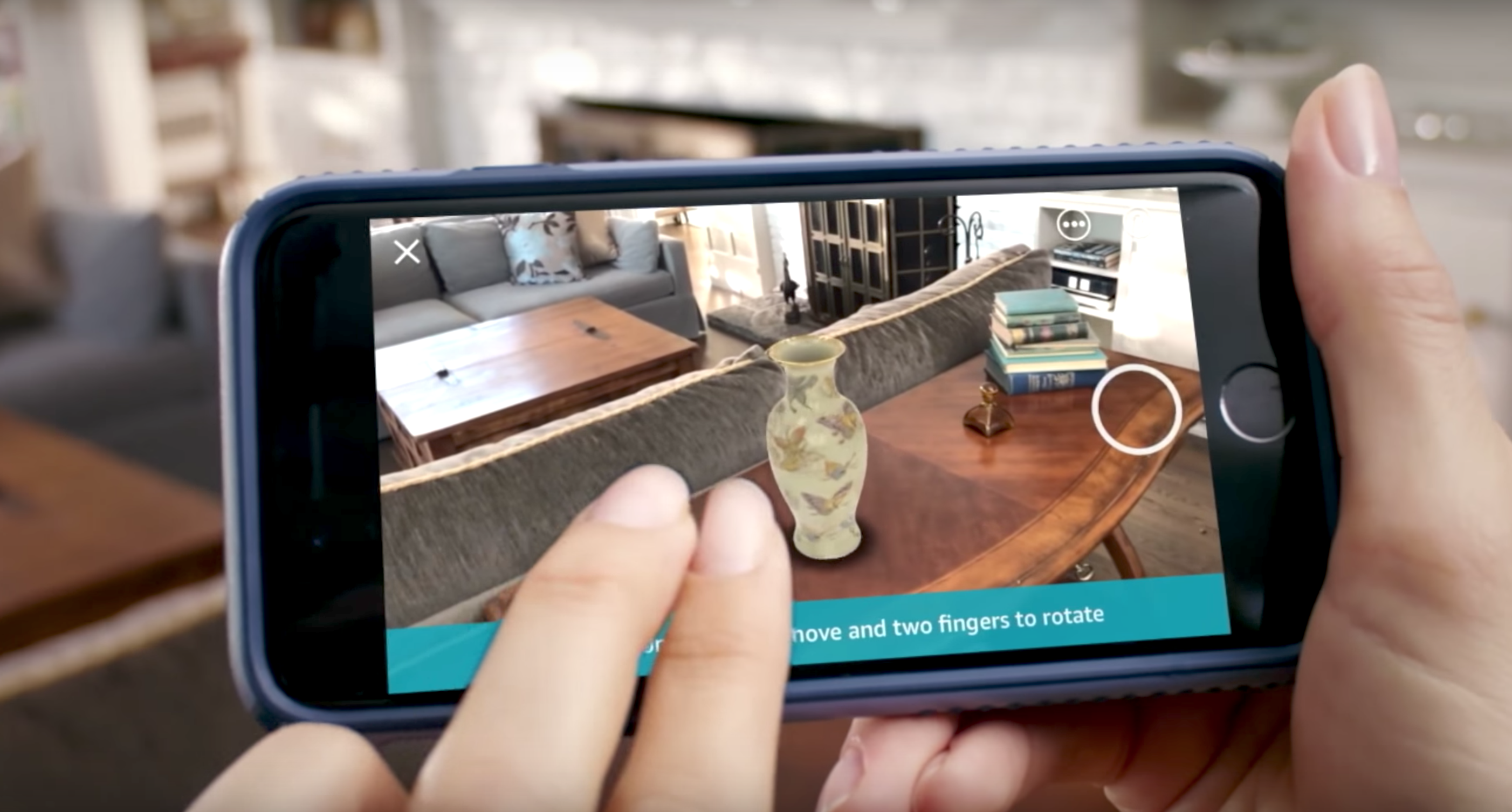 Amazon adds an AR shopping feature to its iOS app | TechCrunch