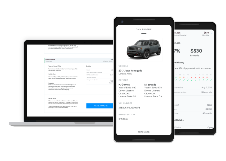 Credit Karma rolls out a hub to check out the details of your car ... 222f3503eaa5