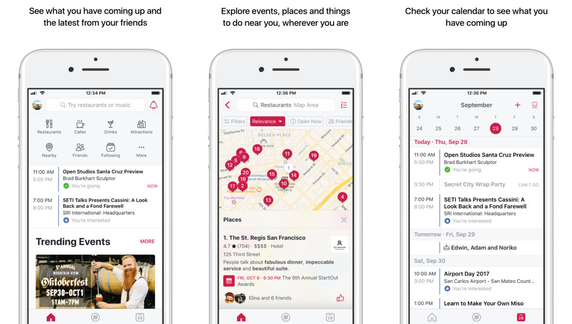 Facebook relaunches Events app as Facebook Local adds bars and food