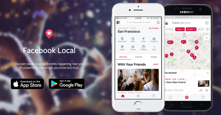 facebook relaunches events app as facebook local adds. Black Bedroom Furniture Sets. Home Design Ideas