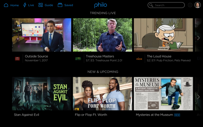 Philo ditches sports to introduce a $16 per month live TV