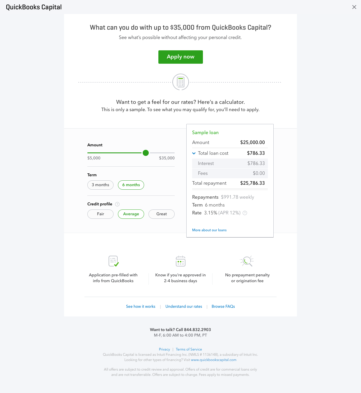 Intuit launches QuickBooks Capital, a small business lending
