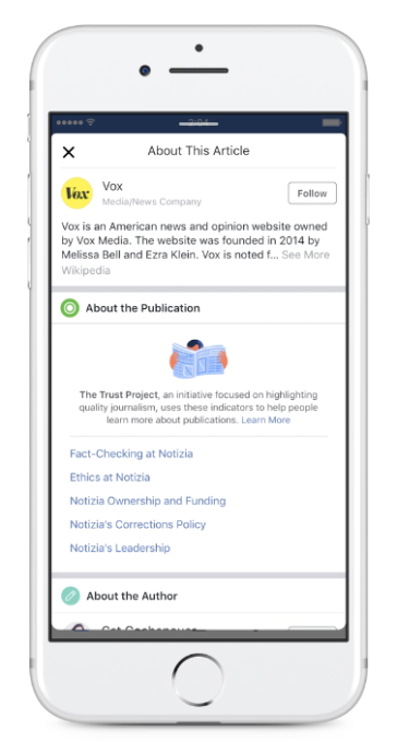 Facebook, Google and others join The Trust Project, an effort to
