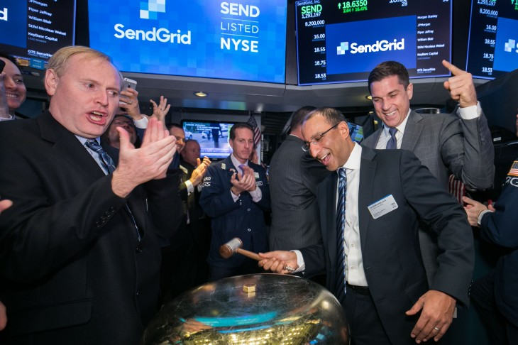 email marketer sendgrid up 13 following ipo techcrunch