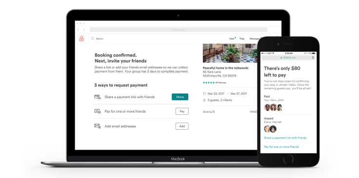 Airbnb launches payment splitting for group trips | TechCrunch
