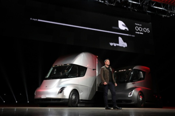 Tesla pushes Tesla Semi deliveries to 2021