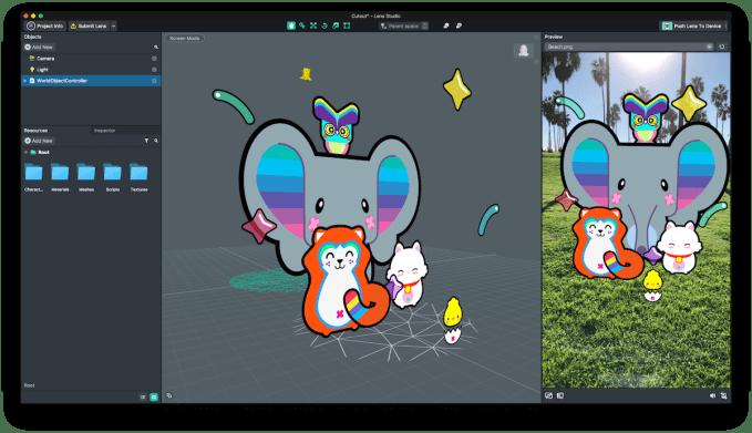 Snapchat launches augmented reality developer platform Lens Studio