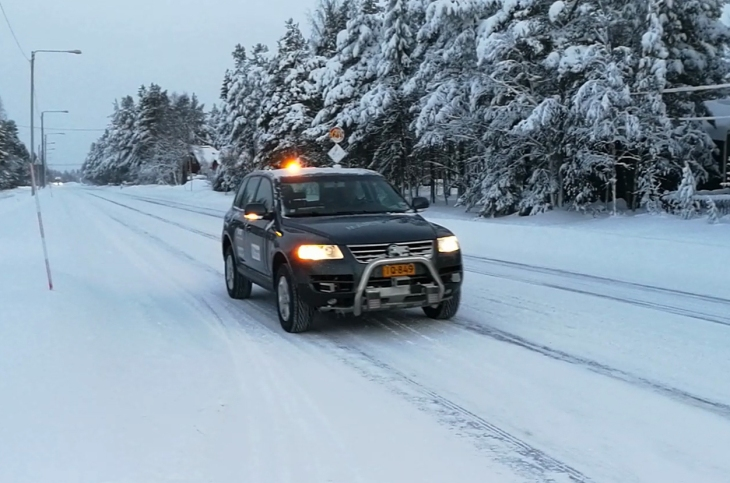 Finnish autonomous car goes for a leisurely cruise in the