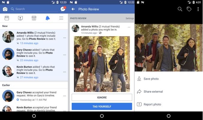 Facebook's facial recognition now finds photos you're