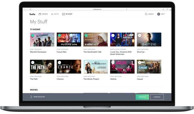 Hulu adds its 'My Stuff' watchlist and picture-in-picture mode to