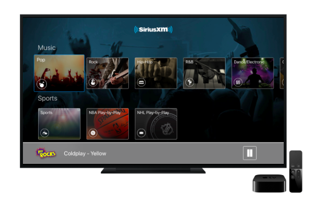 apple tv finally gets siriusxm streaming techcrunch - What Channel Is Christmas Music On Sirius Xm