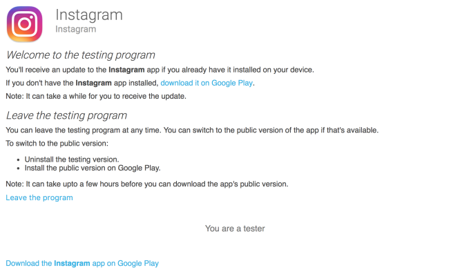 Instagram launches an alpha testing program on iOS and