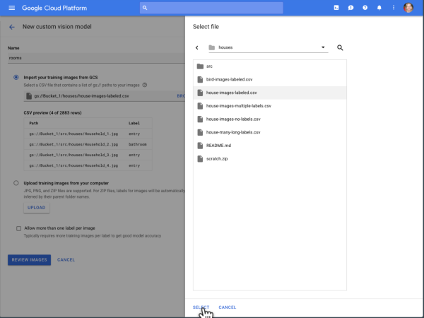 Google's AutoML lets you train custom machine learning