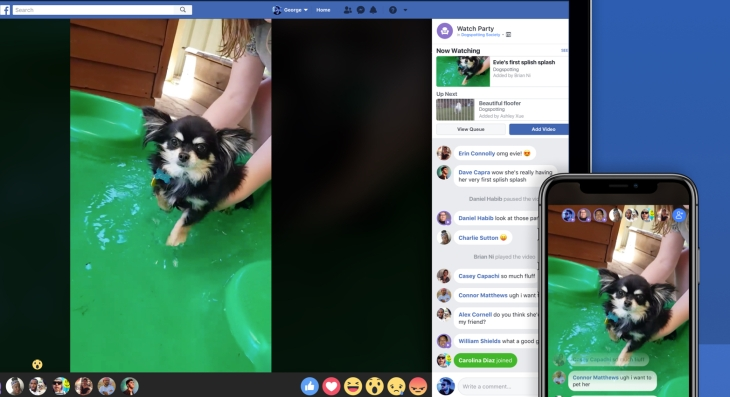 "Facebook ""Watch Party"" lets Groups view videos"