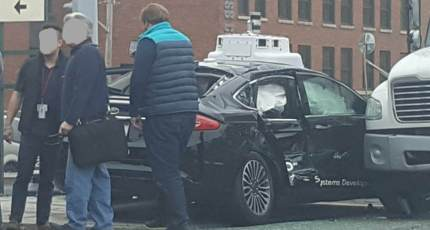 Argo AI self-driving test car hit in Pittsburgh as truck