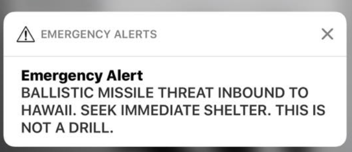 Inexcusable False Ballistic Missile Alert In Hawaii Was Caused By