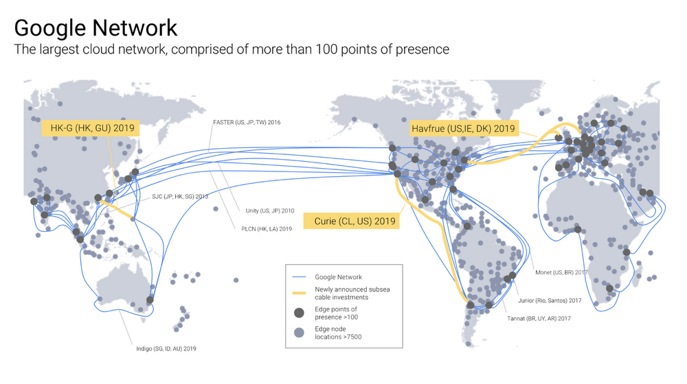 Google Cloud Infrastructure Expansion To Continue With Three New - Us-cloud-map