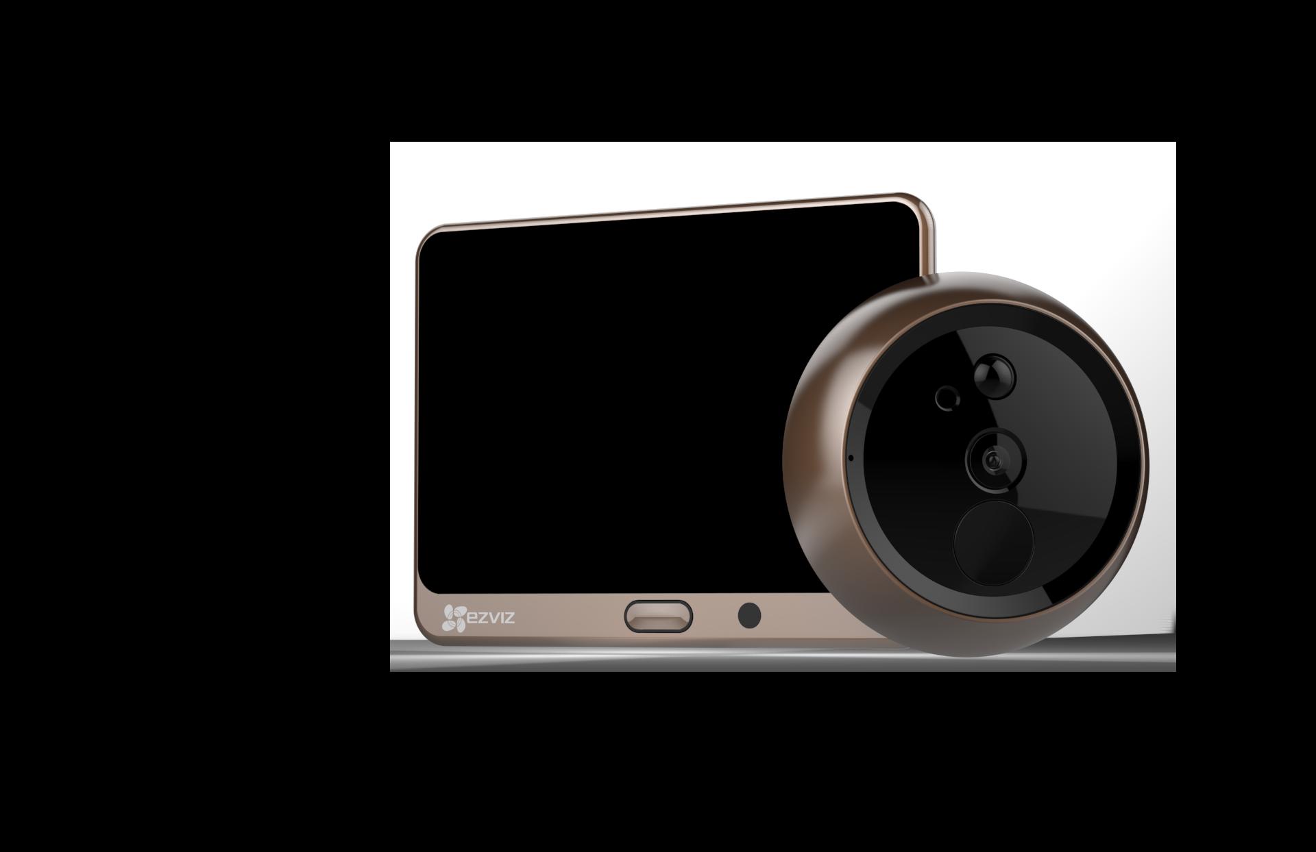 Lookout Screen \u0026&; Camera (Front ...  sc 1 st  TechCrunch & EZVIZ\u0027s \u0027Lookout Smart Door Viewer\u0027 turns a peephole into a smart ...