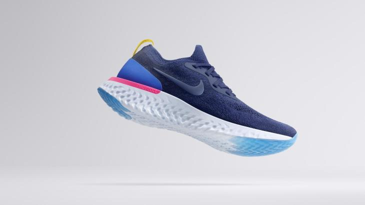 4ff9c285156e SP18 RN REACT HERO BLU Floating hd 1600. Nike just announced their first  shoe ...